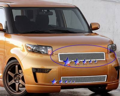 Grilles - Custom Fit Grilles - APS - Scion xB APS Wire Mesh Grille - without Logo Opening - Upper - Stainless Steel - T76585T