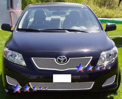 Grilles - Custom Fit Grilles - APS - Toyota Corolla APS Wire Mesh Grille - Upper - Stainless Steel - T76602T