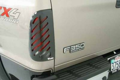 Headlights & Tail Lights - Tail Light Covers - Wade - Wade Smoke Slotted Tail Light Guard Covers - 36888