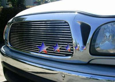 Grilles - Custom Fit Grilles - APS - Toyota Tacoma APS Billet Grille - Center - Upper - Stainless Steel - T85365S