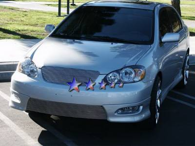Grilles - Custom Fit Grilles - APS - Toyota Corolla APS Billet Grille - Bumper - Stainless Steel - T85383S