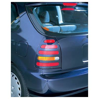 Headlights & Tail Lights - Tail Light Covers - V-Tech - Honda Civic V-Tech Taillight Covers - Slotted Style - 70315