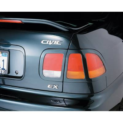 Headlights & Tail Lights - Tail Light Covers - V-Tech - Honda Civic 4DR V-Tech Taillight Covers - Circle Style - 71521
