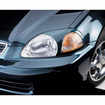 Headlights & Tail Lights - Tail Light Covers - V-Tech - Honda Civic V-Tech Taillight Covers - Circle Style - 71645