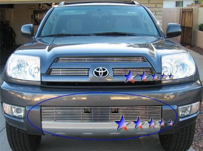 Grilles - Custom Fit Grilles - APS - Toyota 4Runner APS Billet Grille - Bumper - Stainless Steel - T85425S