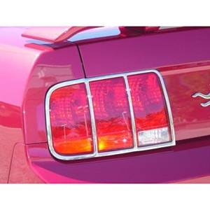 Headlights & Tail Lights - Tail Light Covers - V-Tech - Ford Mustang V-Tech Tailight Trim - Chrome - 1322180