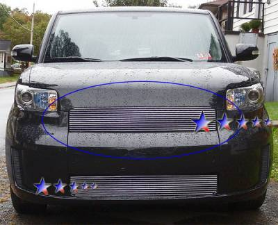 Grilles - Custom Fit Grilles - APS - Scion xB APS Billet Grille - without Logo Opening - Upper - Aluminum - T86585A