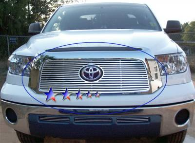Grilles - Custom Fit Grilles - APS - Toyota Tundra APS CNC Grille - with Logo Opening - Upper - Aluminum - T95458A