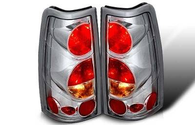 WinJet - Chevrolet Silverado WinJet Altezza Taillight - Chrome & Clear - WJ20-0004-01