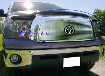 Grilles - Custom Fit Grilles - APS - Toyota Tundra APS CNC Grille - with Logo Opening - Upper - Aluminum - T95458R