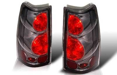 WinJet - Chevrolet Silverado WinJet Altezza Taillight - Chrome & Smoke - WJ20-0004-02