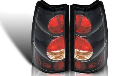 WinJet - Chevrolet Silverado WinJet Altezza Taillight - Black & Clear - WJ20-0004-04