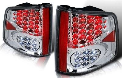 Headlights & Tail Lights - Tail Lights - WinJet - GMC Sonoma WinJet LED Taillight - Chrome & Smoke - WJ20-0008-02
