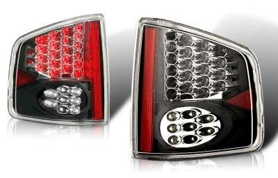 Headlights & Tail Lights - Tail Lights - WinJet - GMC Sonoma WinJet LED Taillight - Black & Smoke - WJ20-0008-05