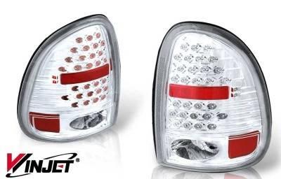 Headlights & Tail Lights - Tail Lights - WinJet - Dodge Caravan WinJet LED Taillight - Chrome & Clear - WJ20-0013-01