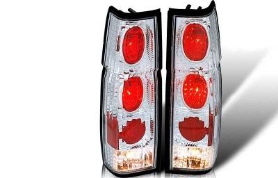 Headlights & Tail Lights - Tail Lights - WinJet - Nissan Pickup WinJet Altezza Taillight - Chrome & Clear - WJ20-0041-01