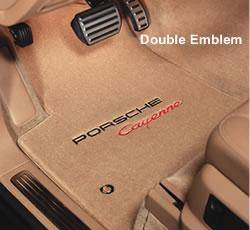 Car Interior - Floor Mats - Custom - Embroidered Floormat Set-Beige