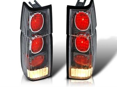 Headlights & Tail Lights - Tail Lights - WinJet - Nissan Pickup WinJet Altezza Taillight - Carbon Fiber & Clear - WJ20-0041-06