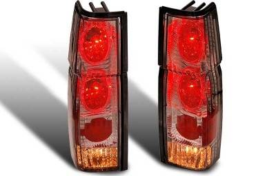 Headlights & Tail Lights - Tail Lights - WinJet - Nissan Pickup WinJet Altezza Taillight with Halo - Chrome & Smoke - WJ20-0042-02