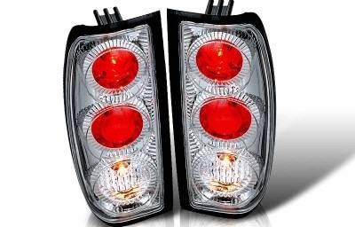Headlights & Tail Lights - Tail Lights - WinJet - Nissan Frontier WinJet Altezza Taillight - Chrome & Clear - WJ20-0043-01