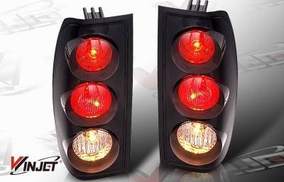 Headlights & Tail Lights - Tail Lights - WinJet - Nissan Frontier WinJet Altezza Taillight - Black & Smoke - WJ20-0043-05
