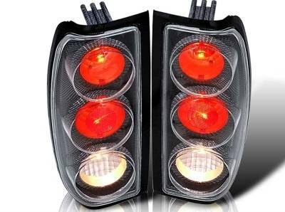 Headlights & Tail Lights - Tail Lights - WinJet - Nissan Frontier WinJet Altezza Taillight - Carbon Fiber & Clear - WJ20-0043-06