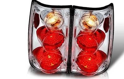 Headlights & Tail Lights - Tail Lights - WinJet - Toyota Pickup WinJet Altezza Taillight - Chrome & Clear - WJ20-0045-01