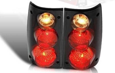 Headlights & Tail Lights - Tail Lights - WinJet - Toyota Pickup WinJet Altezza Taillight - Black & Smoke - WJ20-0045-05