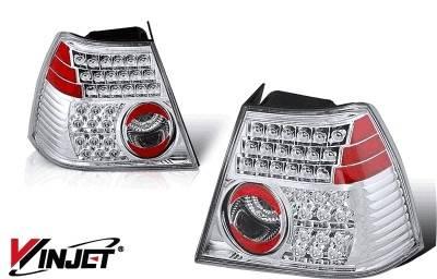 Headlights & Tail Lights - Tail Lights - WinJet - Volkswagen Jetta WinJet LED Taillight - Chrome & Smoke - WJ20-0048-02