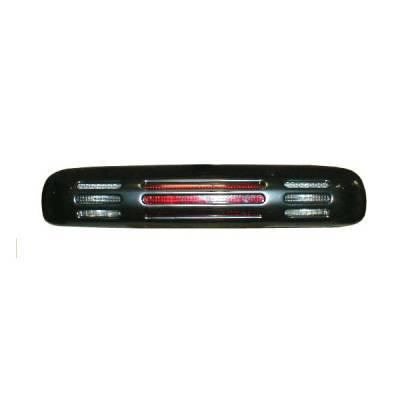 Headlights & Tail Lights - Third Brake Lights - V-Tech - GMC Sierra V-Tech 3rd Brake Light Cover - Slotted Style - 75050