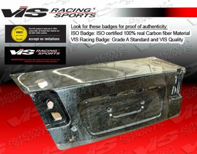 Civic 4Dr - Trunk Hatch - VIS Racing. - Honda Civic 4DR VIS Racing OEM Carbon Fiber Trunk - 01HDCVC4DOE-020C