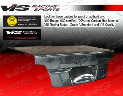 3 Series 4Dr - Trunk Hatch - VIS Racing - BMW 3 Series 4DR VIS Racing OEM Carbon Fiber Trunk - 06BME904DOE-020C