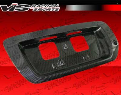 Civic 2Dr - Trunk Hatch - VIS Racing - Honda Civic 2DR VIS Racing OEM Style Carbon Fiber License Plate Cover - 06HDCVC2DOE-LIC