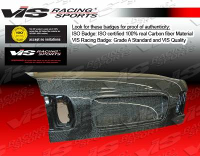 Civic 4Dr - Trunk Hatch - VIS Racing - Honda Civic 4DR VIS Racing OEM Carbon Fiber Trunk - 96HDCVC4DOE-020C