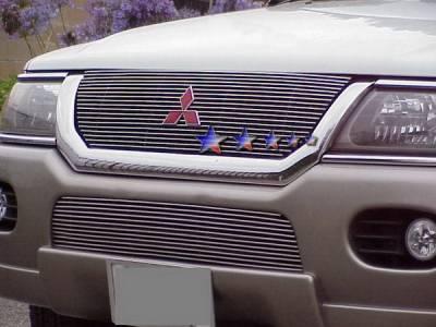 Grilles - Custom Fit Grilles - APS - Mitsubishi Montero APS Billet Grille - Upper - Aluminum - U65114A