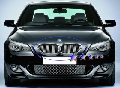 Grilles - Custom Fit Grilles - APS - BMW 5 Series APS Billet Grille - Upper - Aluminum - W65522V