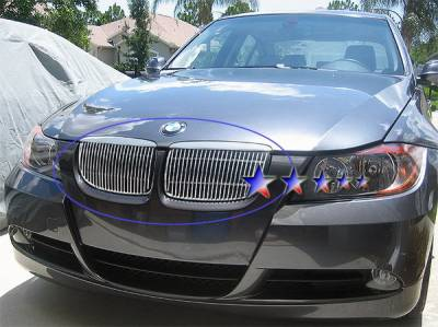 Grilles - Custom Fit Grilles - APS - BMW 3 Series APS Billet Grille - Upper - Aluminum - W65526V