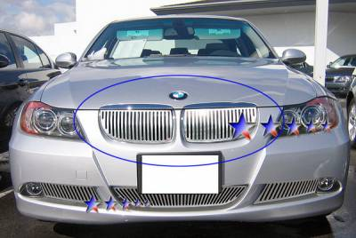Grilles - Custom Fit Grilles - APS - BMW 3 Series APS CNC Grille - Upper - Aluminum - W95526V