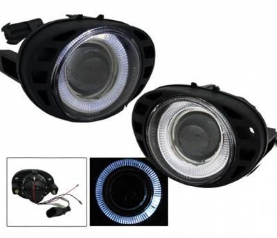 Headlights & Tail Lights - Fog Lights - 4CarOption - Dodge Caravan 4CarOption Halo Projector Fog Lights - XT-FGPR-CRVN-9904