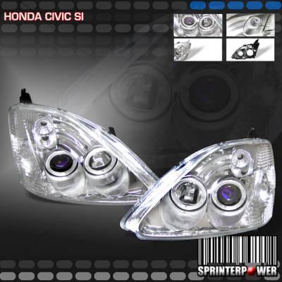 Headlights & Tail Lights - Headlights - Custom - Diamond Chrome Halo Pro Headlights SI
