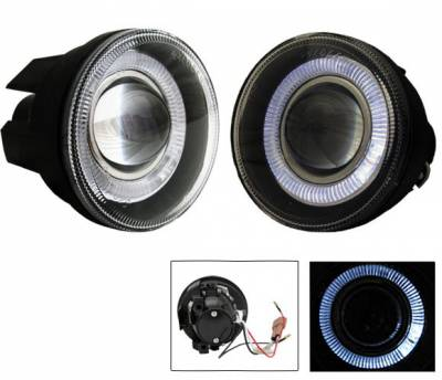 Headlights & Tail Lights - Fog Lights - 4CarOption - Dodge Durango 4CarOption Halo Projector Fog Lights - XT-FGPR-DKT-0104