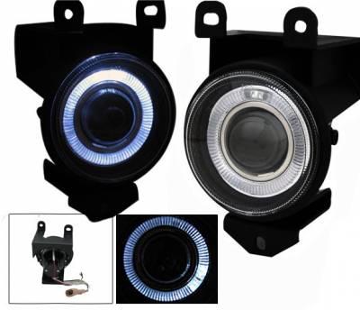 Headlights & Tail Lights - Fog Lights - 4CarOption - GMC Yukon 4CarOption Halo Projector Fog Lights - XT-FGPR-DNL-0106
