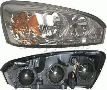 Headlights & Tail Lights - Headlights - Custom - Clear Lense Headlights Amber Passanger Side