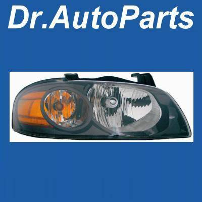 Headlights & Tail Lights - Headlights - Custom - Black Housing Clear Lense Headlight - Amber - Passenger Side