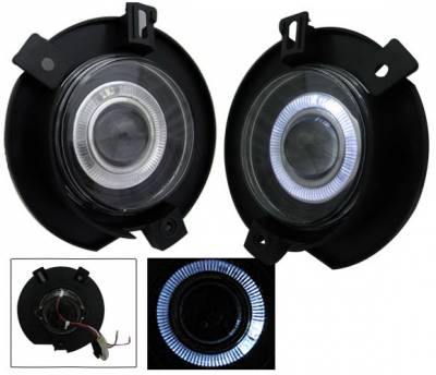 Headlights & Tail Lights - Fog Lights - 4CarOption - Ford Explorer 4CarOption Halo Projector Fog Lights - XT-FGPR-EXPL-0203