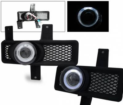 Headlights & Tail Lights - Fog Lights - 4CarOption - Ford F150 4CarOption Halo Projector Fog Lights - XT-FGPR-F150-9798