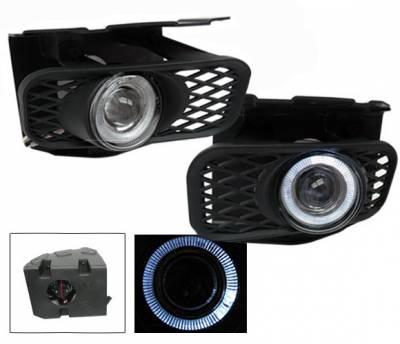 Headlights & Tail Lights - Fog Lights - 4CarOption - Ford F150 4CarOption Halo Projector Fog Lights - XT-FGPR-F150-9903