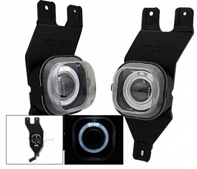 Headlights & Tail Lights - Fog Lights - 4CarOption - Ford F250 4CarOption Halo Projector Fog Lights - XT-FGPR-F250-0104