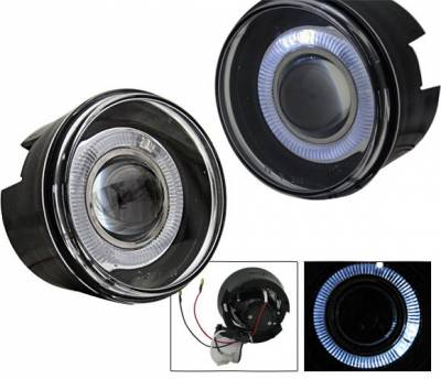 Headlights & Tail Lights - Fog Lights - 4CarOption - Jeep Grand Cherokee 4CarOption Halo Projector Fog Lights - XT-FGPR-GCRK-0407