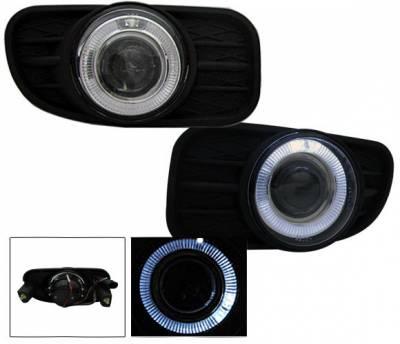 Headlights & Tail Lights - Fog Lights - 4CarOption - Jeep Grand Cherokee 4CarOption Halo Projector Fog Lights - XT-FGPR-GCRK-9903